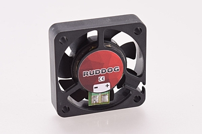 Ruddog Fan 40mm with Tabs and 170mm Wire (Black)