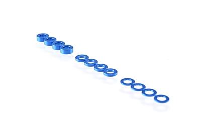 Ruddog 3mm Washer Set 0.5mm/1.0mm/2.0mm (12pcs·Dark Blue)