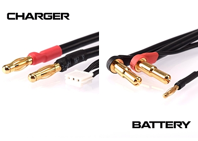 Ruddog 2S Charging Lead 60cm (4/5mm, 2mm / 4mm, 3PIN-EH)