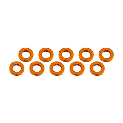 Ultimate Racing Aluminum Shim 3x6x1mm (10pcs·Orange)