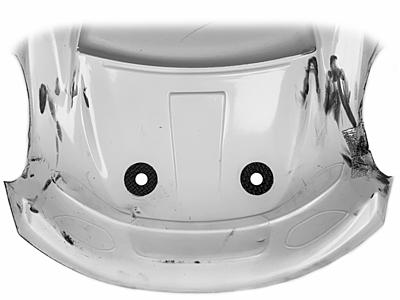 1up Racing Carbon Fiber Body Hole Protectors 1/10 Onroad for 6mm Posts (4pcs)