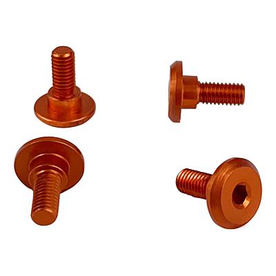1up Racing Servo Mounting Screws - 4.2mm Neck M3x6mm Thread - Orange