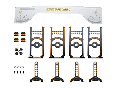 Arrowmax Set-Up System for 1/8 Off-Road & Truggy Cars with Bag Limited Edition