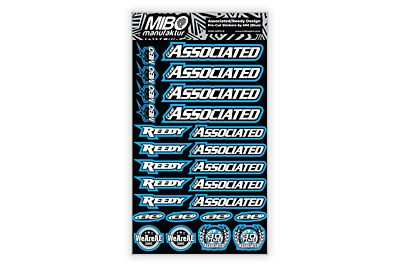 Associated/Reedy Design Pre-Cut Stickers by MM (6 Color Options, Larger A5 size)