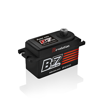 Power HD B7 PRO Red Low Profile (0.055s/13.0kg/7.4V) Brushless Servo