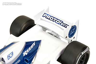 PROTOform F1 Rear Wing (White) for 1:10 Formula 1