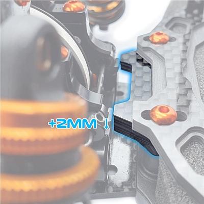 RC Maker GeoCarbon Heavy Duty Bumper Stopper Brace for Xray T4'20