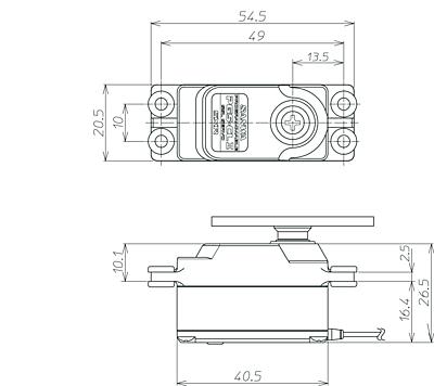 Sanwa PGS-CL2 Low Profile SXR Response (0.08s/16.6kg/7.4V) Coreless Servo