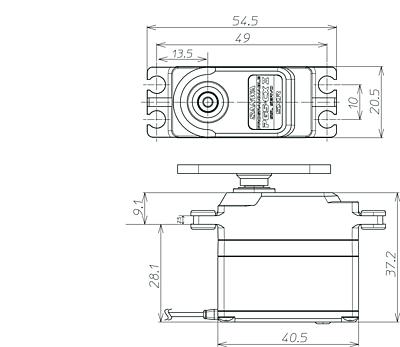 Sanwa PGS-CX2 SXR Response (0.11s/26.5kg/7.4V ) Coreless Servo