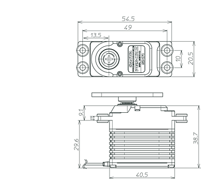 Sanwa PGS-XB2 SXR Response (0.11s/21.1kg/7.4V) Brushless Servo