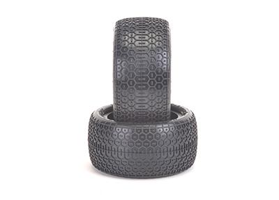 Schumacher Honeycomb 1/10 - Rear Tyres - Yellow (1 pair)