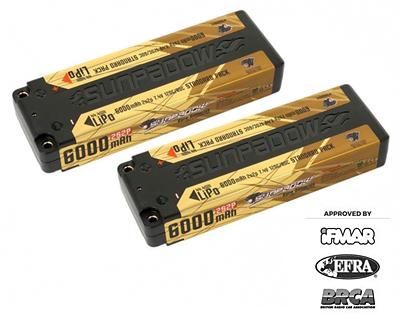 Sunpadow Set 2x LiPo Battery 7.4V 2S 6000mAh 120C/60C