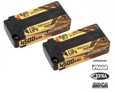 Sunpadow Set 2x Shorty LiPo Battery 7.4V 2S CN 4500mAh 120C/60C