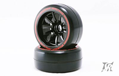 Sweep 1/10 Formula 1 Front Low Profile Tires Pre-Glued Soft Compound 27mm (2pcs)