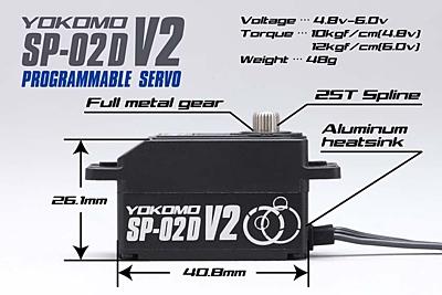 Yokomo SP-02D Low Profile Programmable (RWD Drift Spec/12.0kg/6.0V) Coreless Servo