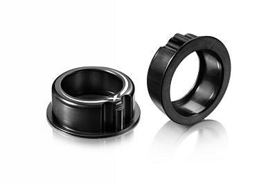 XRAY T4 Alu Adjustment Ball-Bearing Hub - Black (2pcs)