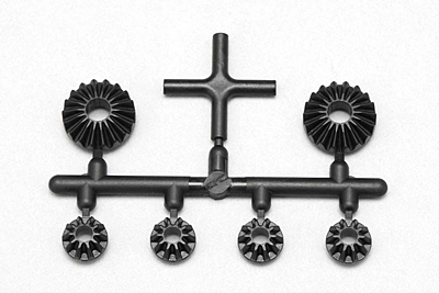 BD9 Molded Bevel Gear Set with Cross Pin (Large 2x/Small 4x)