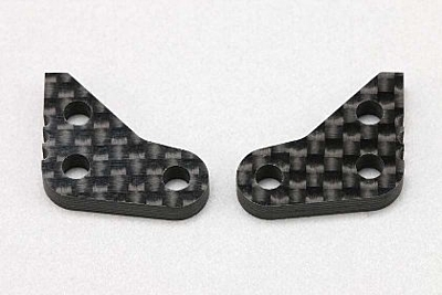 YZ-2T Steering Block Plate 1.0mm Offset (Graphite·2pc)