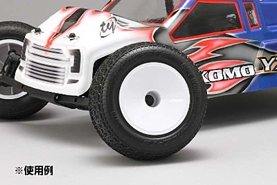 Yokomo Front/Rear Hex 12mm Wheel (White) for YZ-2T Truck