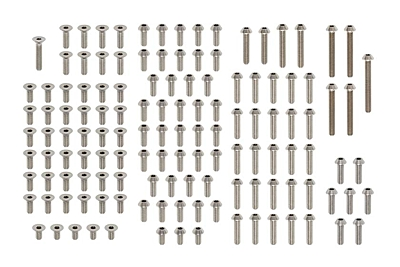 YZ-4SF2 Precision Machined Titanium Screw Set (137pcs)