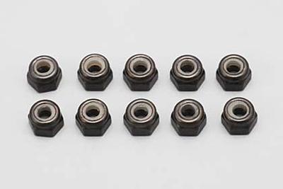 Yokomo M3×4mm Nylon Lock Nut (Steel·10pcs)